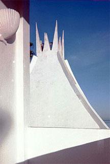 The roof of the Club El Morro hotel in La Paz