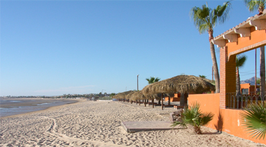 The beach in front of the El Cortez, San Felipe